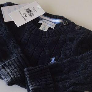 NWT Ralph Lauren Navy Sweater